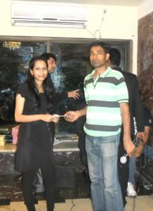 Most Likeable Person's Award to Susmita Di